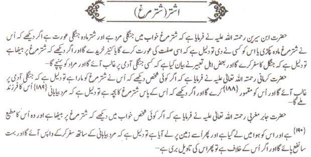 Khawab Nama Khwab Main Shuttur Murgh Dekhna