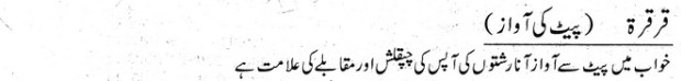 Khawab Nama Khwab Main Pait Se Awaaz Aana
