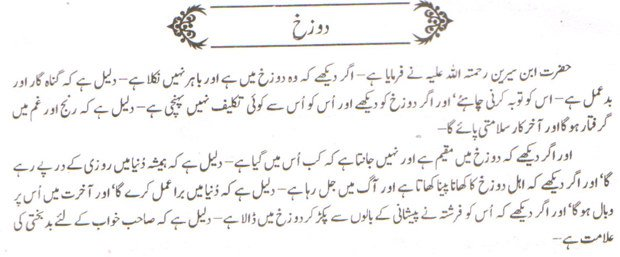 Khawab Nama Khwab Main Jahannam Dekhna