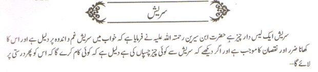Khwab Main Suresh Ki Tabeer khawab ki tabeer