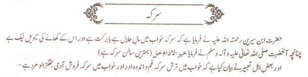 Khwab Main Sirkaa Dekhne Ki Tabeer khwabon ki tabeer