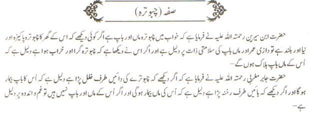 khwab nama khwab main Suffah dekhna