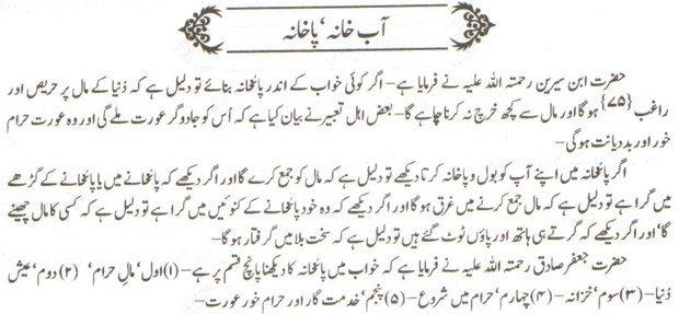 khwab nama Khwab Main Aab Khana Dekhna