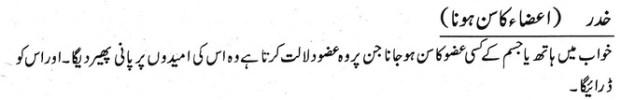 khwab nama khwab main aaza ka sun hona dekhna