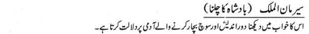 khawab nama Khwab Main Badshah Ka Darban Dekhna