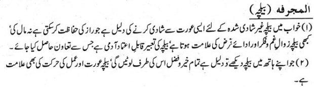 Khawab Nama Khwab Main Belcha Dekhne ki tabeer