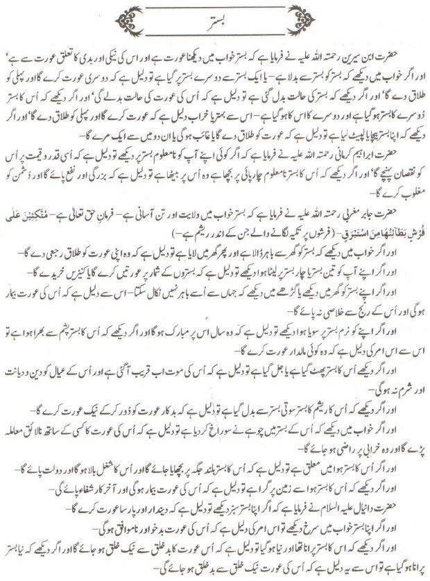 Khawab Nama Khwab Main Bistar Dekhna