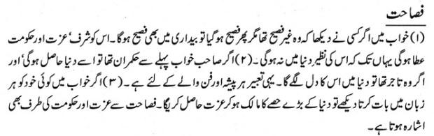 khwab nama khwab main fasahat dekhne ki tabeer