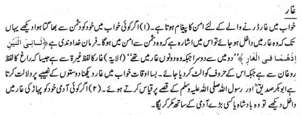 Khawab Nama khwab main Ghaar dekhna