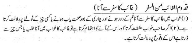 khwab nama khwab main ghaib k  safar se aana