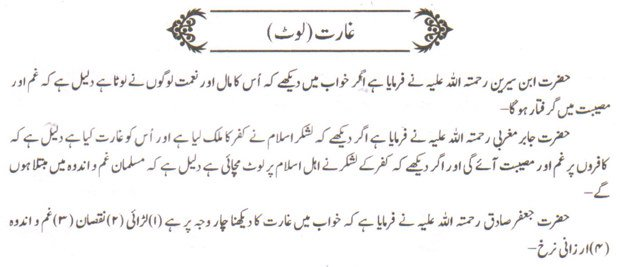 khwab nama khwab main gharat karna dekhna