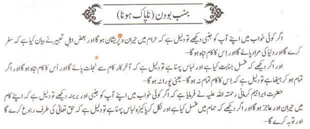 Khawab Nama Khwab Main Janabi Dekhna