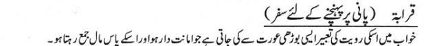 khawab nama Paani Par Puhanchne K Liye Saffar