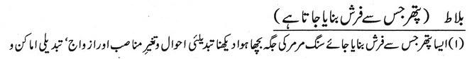 Khwab Main Farsh Bnanane Wala Pather ki Tabeer