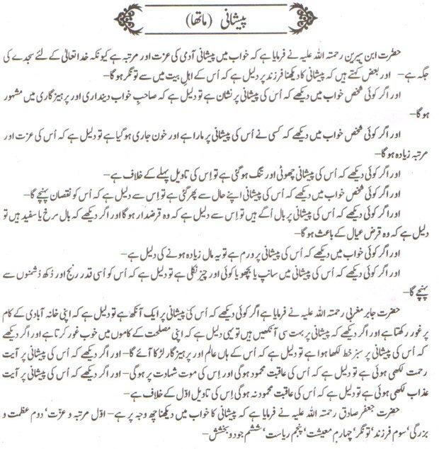 Khawab Nama Khwab Main paishani Dekhna