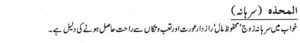 Khwab Main Sirhana Dekhne Ki Tabeer khawab ki tabeer