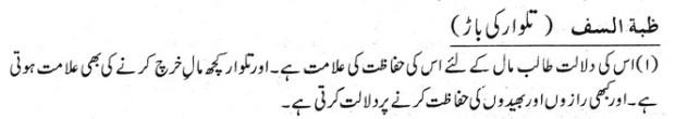 Khawab Nama Khwab Main Talwwar Ki Baar Dekhna