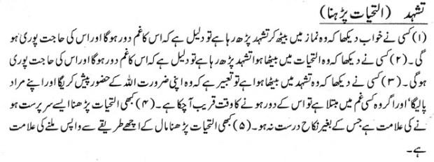 Khawab Nama Khwab Main Tashhad Parhna