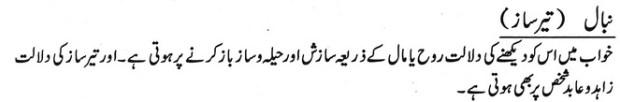 Khawab Nama Khwab Main Teer Saaz Dekhna