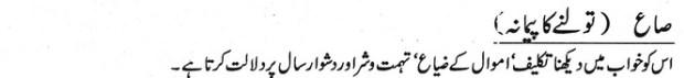 Khawab Nama Khwab Main Tolne Ka Paimana Dekhna