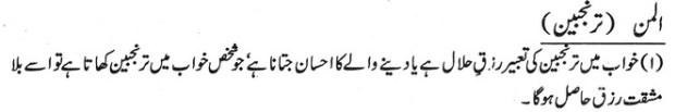 Khawab Nama Khwab Main tranjabeen Dekhna