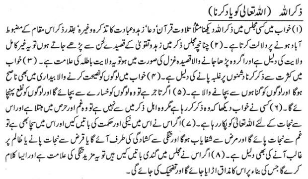 Khwab Main Zikr Ullah Ki Tabeer khwabon ki tabeer