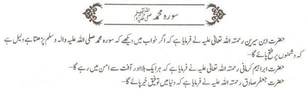 khwab ki tabeer khwab main soorah Muhammad parhna