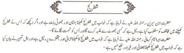 khwab nama khwab main Shatranj khelne ki tabeer