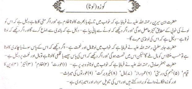 khwab nama khwab main lota dekhne ki tabeer