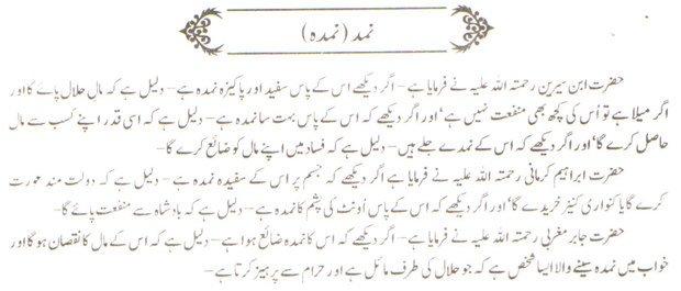 khwab nama Khwab Main Namdah Dekhne Ki Tabeer